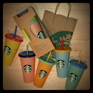 APRICOT Starbucks Color Changing Cups!